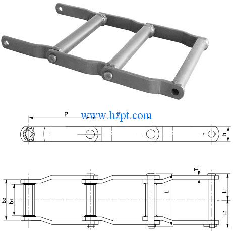 Welded Offset Sidebar Chain
